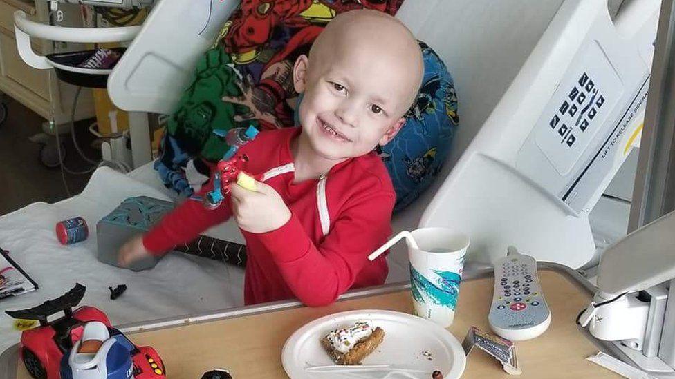 Garrett Matthias in hospital