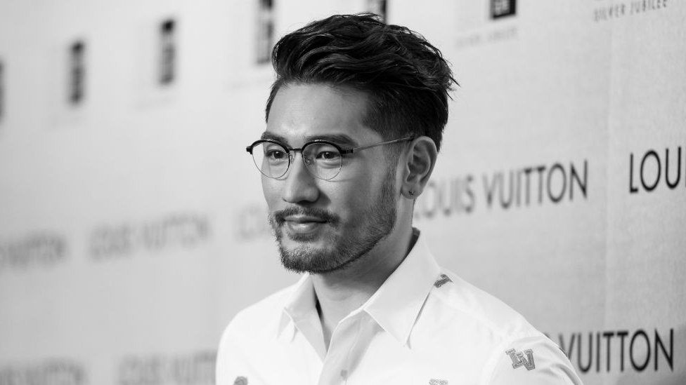 Godfrey Gao poses at the red carpet during the opening night of the Time Capsule Exhibition by Louis Vuitton on 21 April 2017