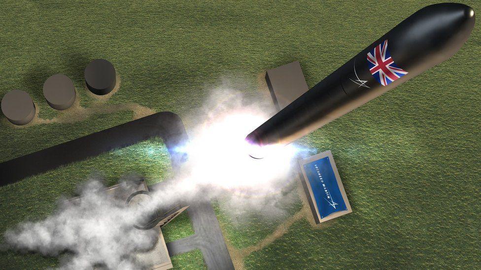 Artist's impression of Sutherland rocket launch