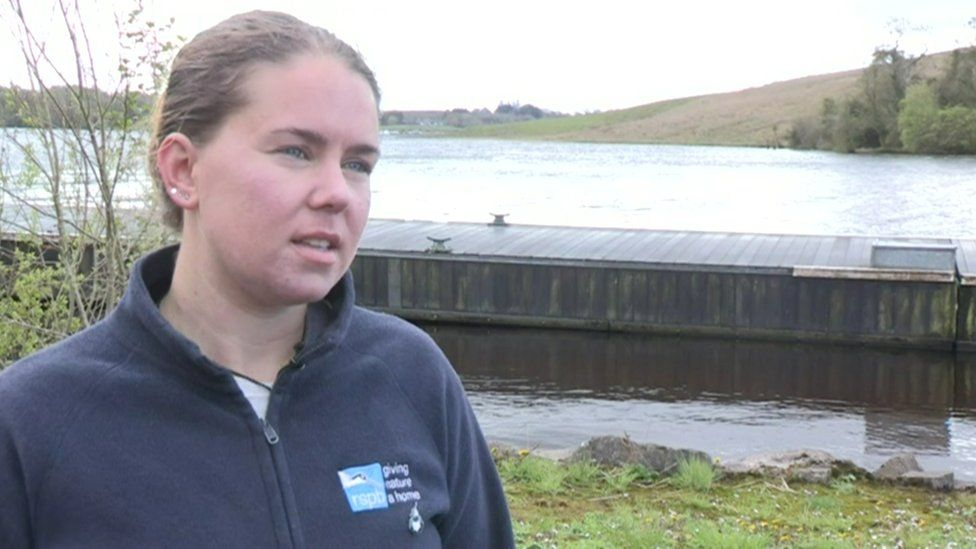 RSPB warden Amy Burns