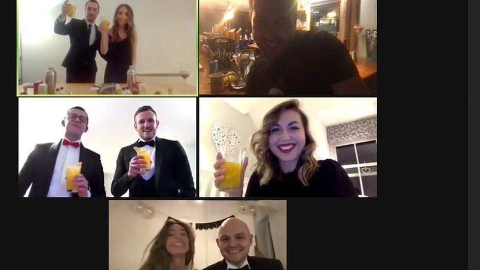 Shannon had a cocktail making party on Zoom for her birthday