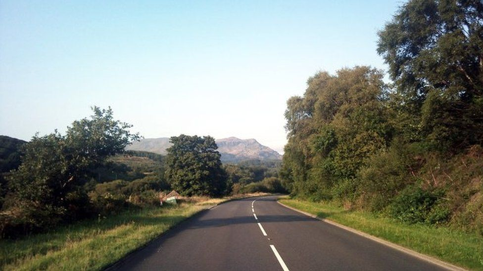 The A487 near Penrhyndeudraeth