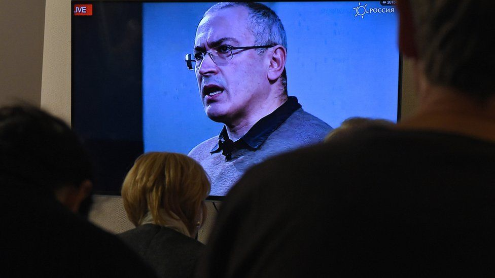 Mikhail Khodorkovsky speaks during an Open Russia conference (file pic)