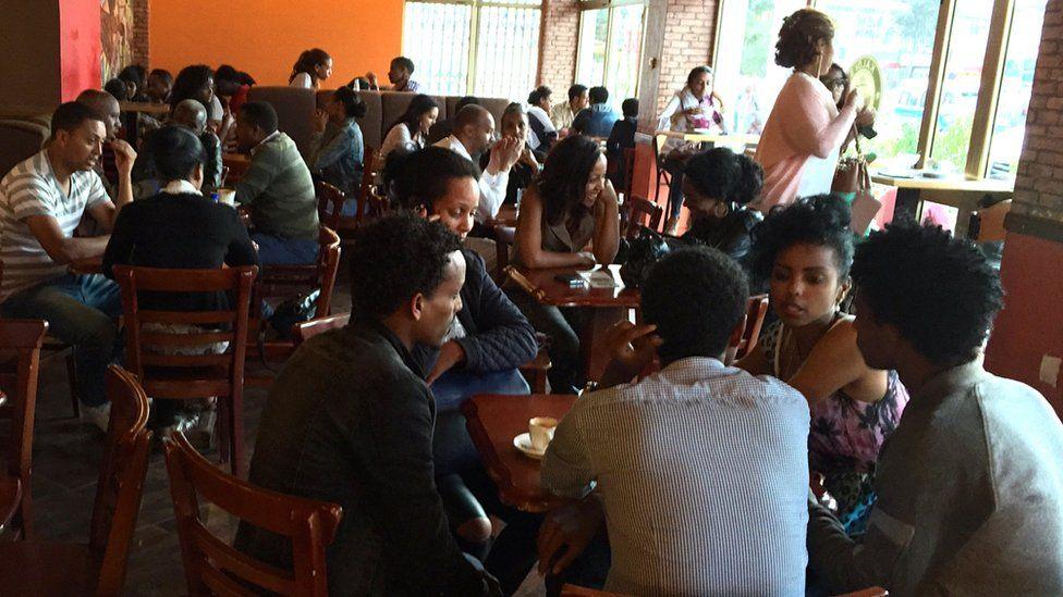 Kaldi's coffee shop, downtown Addis Ababa