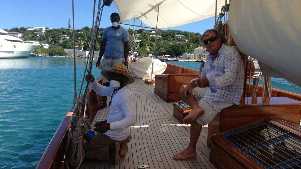 Carlo Falcone on board the Mariella