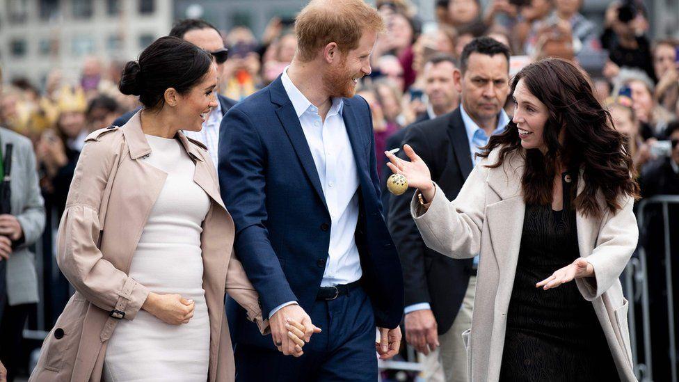 Meghan, Harry and Jacinda Ardern