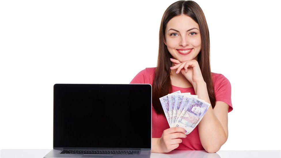 Women holds money