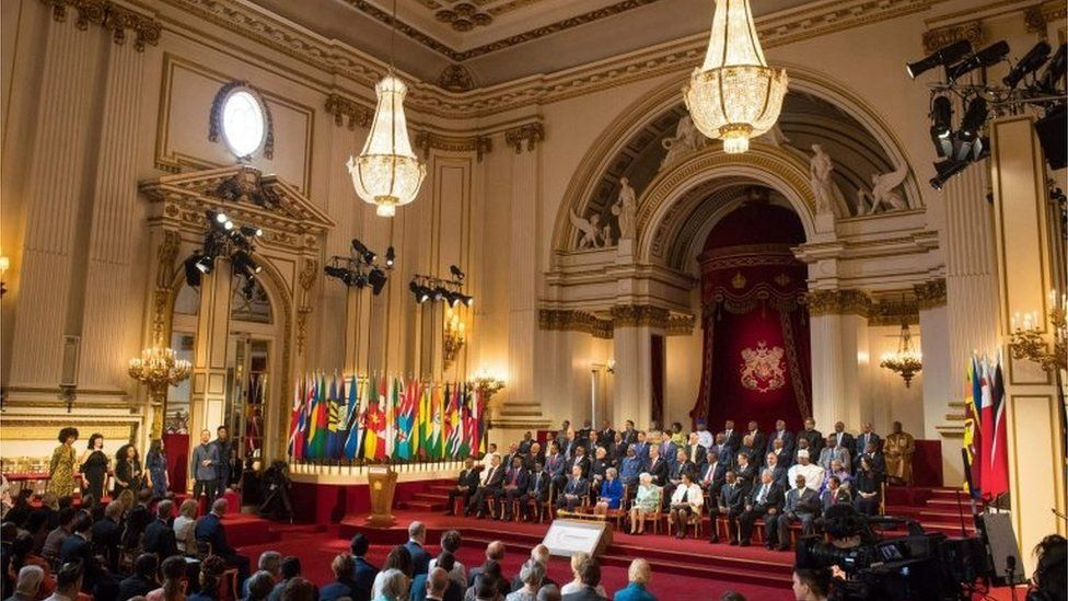 A general view of the formal opening of the Commonwealth Heads of Government Meeting