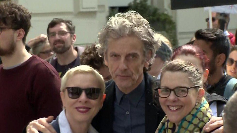 Peter Capaldi at the march