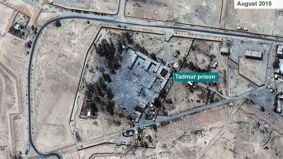 Tadmur prison, Palmyra (footage from militant website)