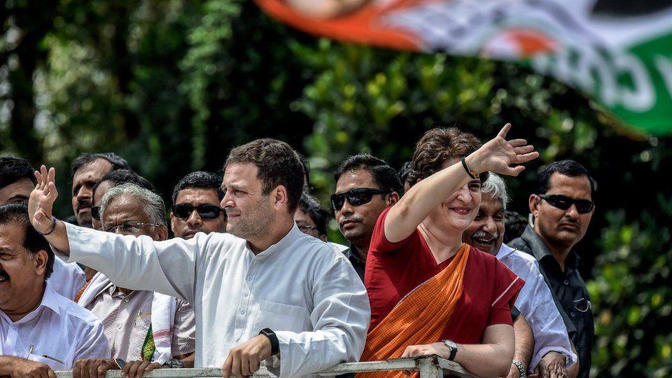 Rahul and Priyanka Gandhi campaigning