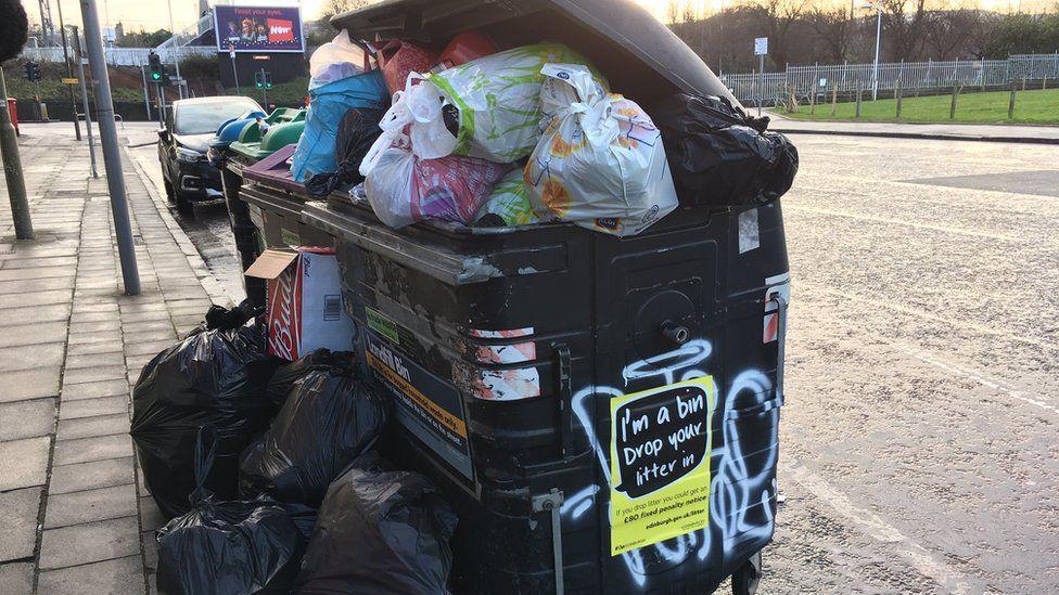 Full bin in Edinburgh