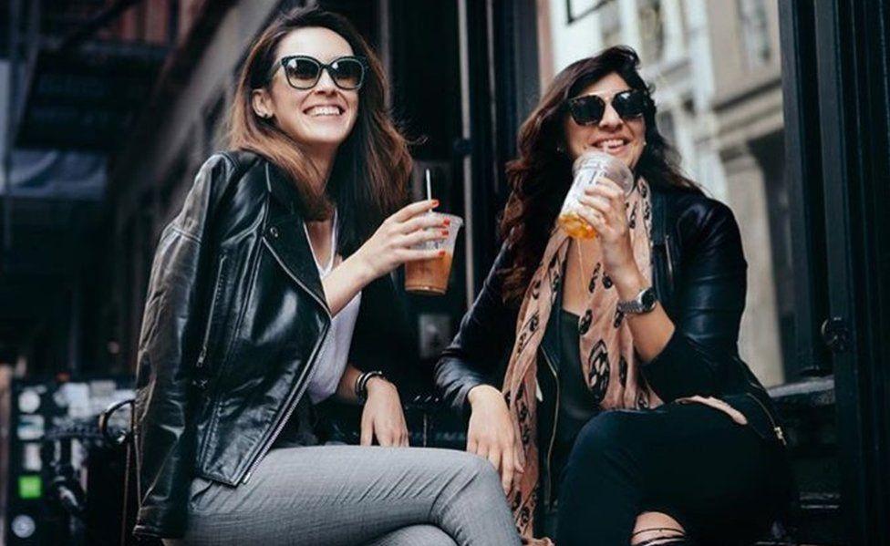 App creators Eriko Varkey (left) and Yasmine Rasool