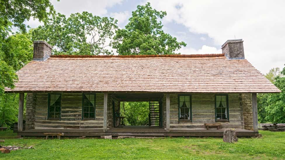 A 19th century dog trot house in Nashville, Tennessee