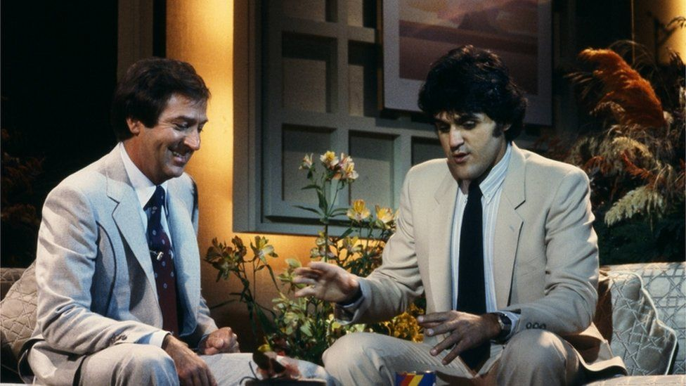 Des O'Connor with Jay Leno