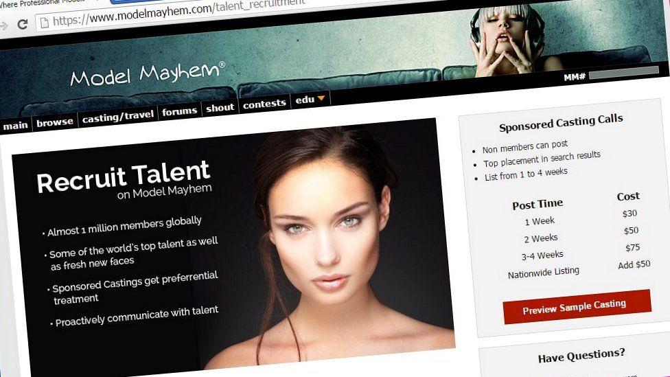 Model Mayhem website