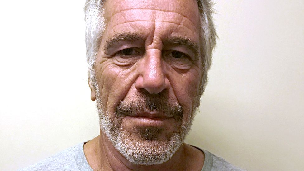 Jeffrey Epstein appears in a photograph taken for the New York State Division of Criminal Justice Services' sex offender registry in 2017