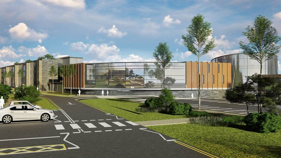 Artist's impression of West Cumbria Hospital redevelopment