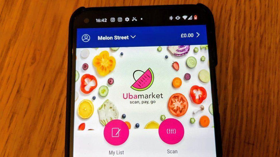 The Ubamarket app