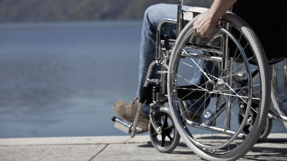 Person in wheelchair