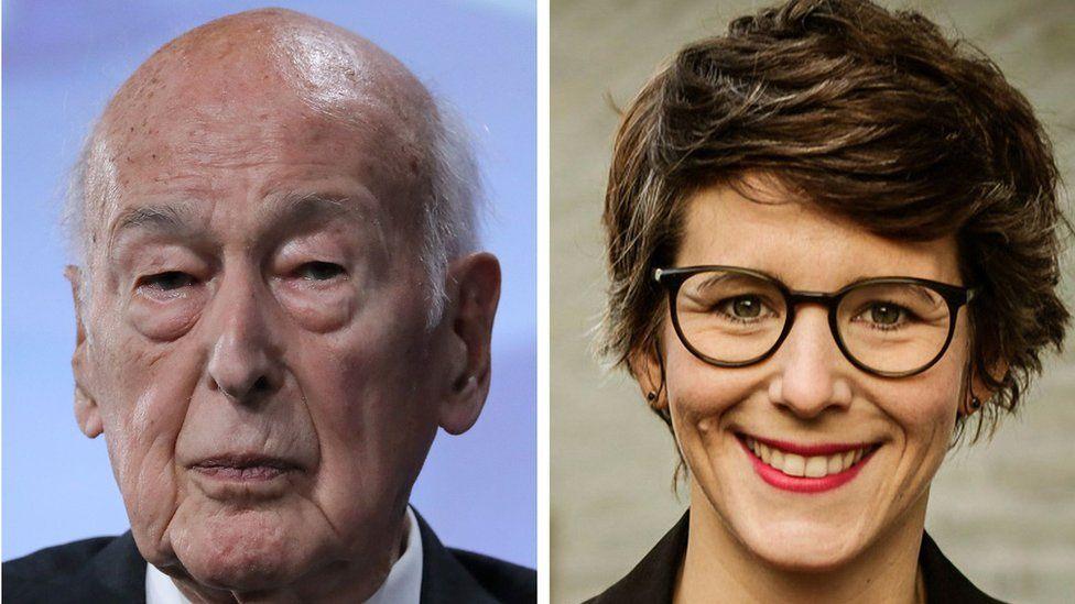 Valéry Giscard d'Estaing, left, and Ann-Kathrin Stracke