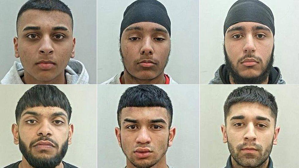 Top row L-R: Adam Khan, Dilbagh Singh, Gurmail Singh Bottom row: Murad Mohammed, Samadhur Rahman, Shehroz Ahmed