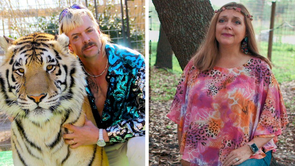 Tiger King's Joe Exotic and Carole Baskin
