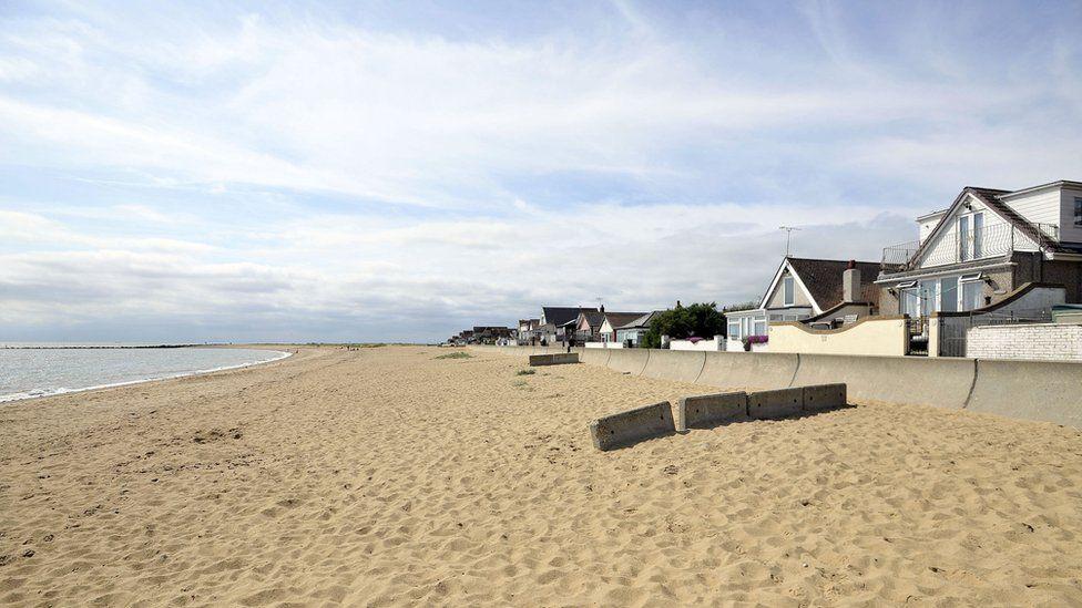 Jaywick Sands beach in East Jaywick, near Clacton