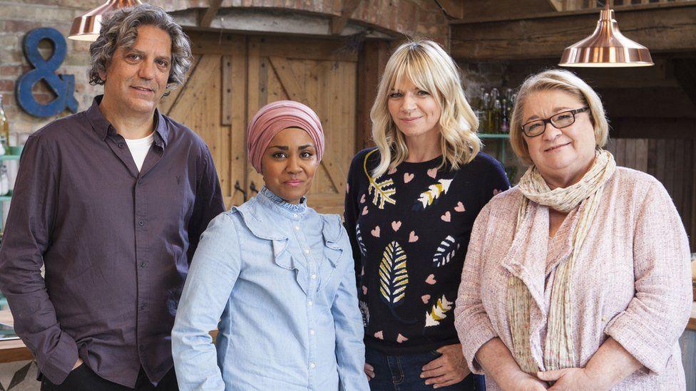 Giorgio Locatelli, Nadiya Hussain, Zoe Ball and Rosemary Shrager