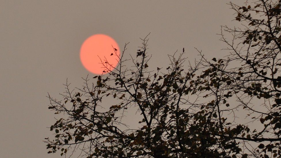 Red sun in Bristol