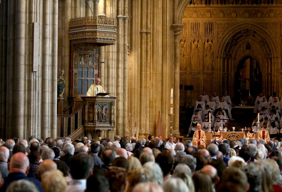 Archbishop of Canterbury Justin Welby giving his Easter sermon in 2019