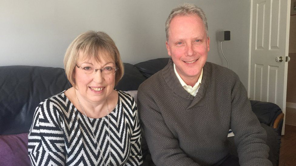 Christine Lewis and Julian Worricker