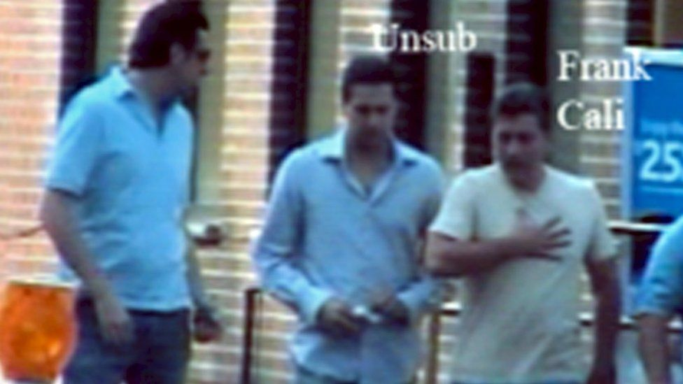 Italian police photos of Frank Cali in Rome as part of a joint FBI-Italian operation known as Old Bridge