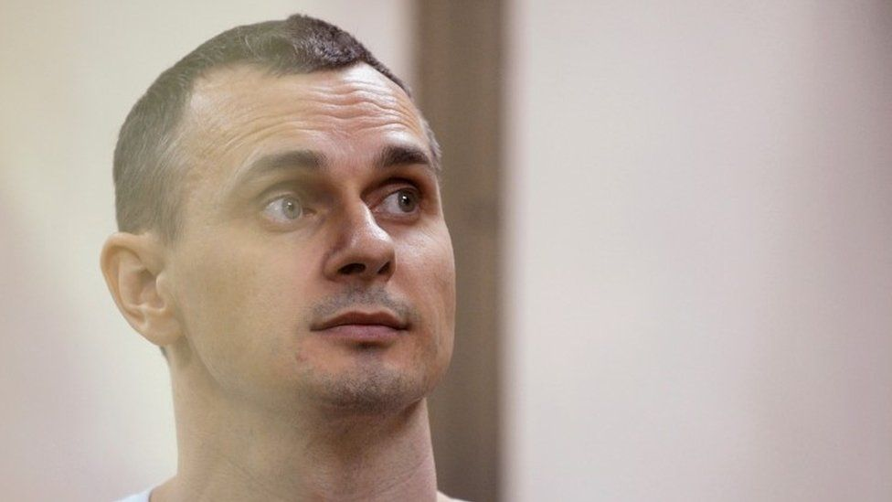Ukrainian film director Oleg Sentsov attends a court hearing in Rostov-on-Don, Russia, August 25, 2015