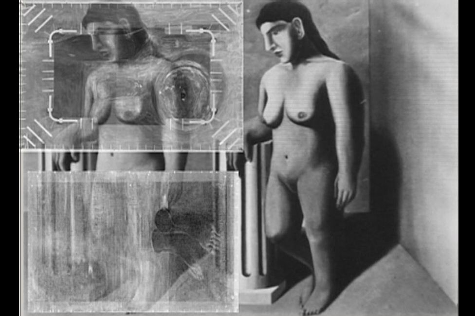 X-ray of La Pose Enchantee by Rene Magritte