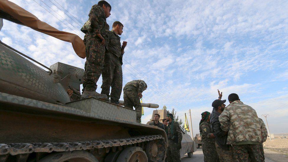 Syrian Kurdish forces (file pic)