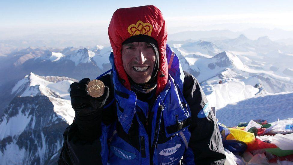 Kenton Cool on top of Everest
