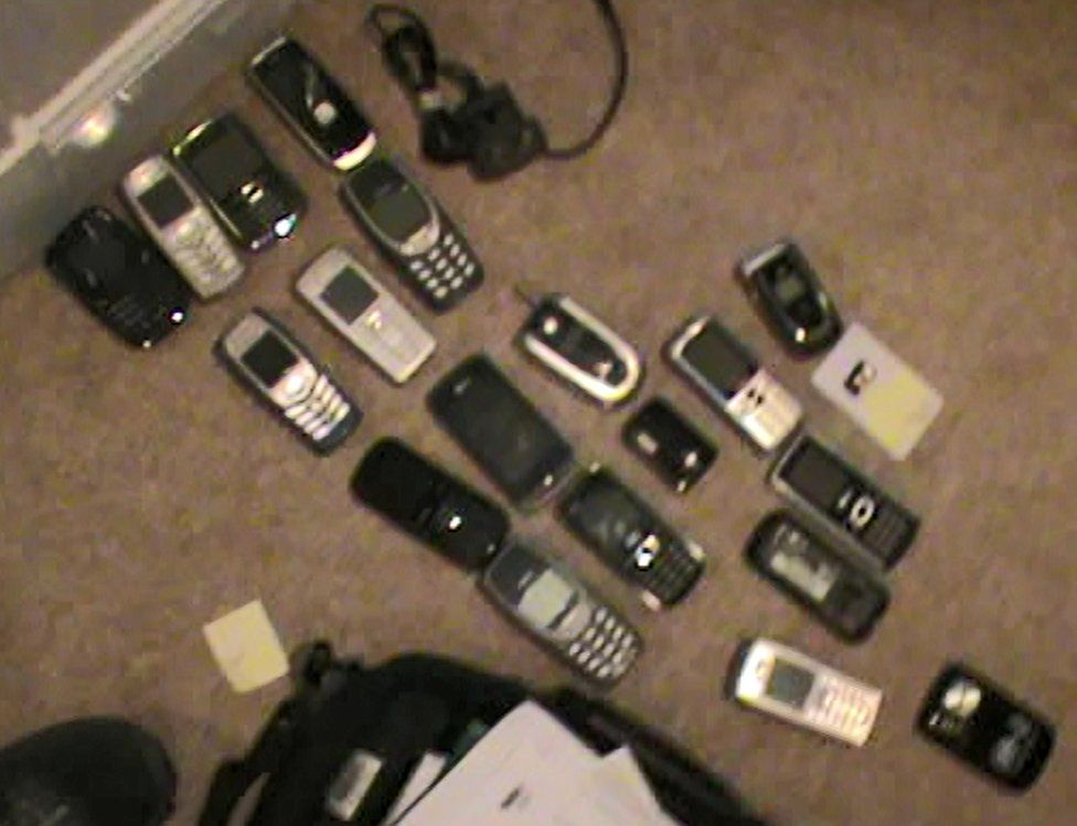 Phones seized from John Farrell's house