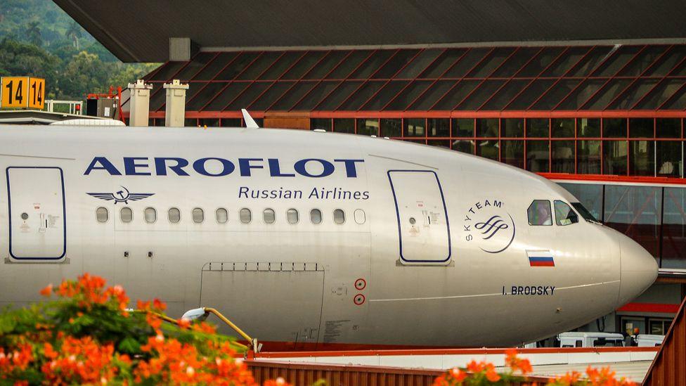 Aeroflot plane in Cuba - file pic