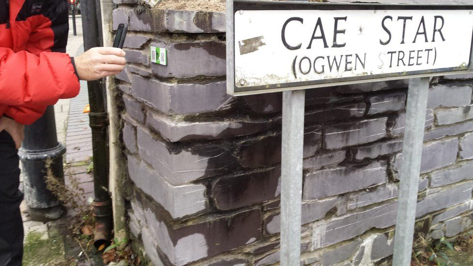 A history points QR code has been placed at the site of Gwen's family home to commemorate her life.