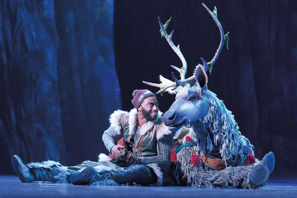 Jelani Alladin and Andrew Pirozzi in Frozen