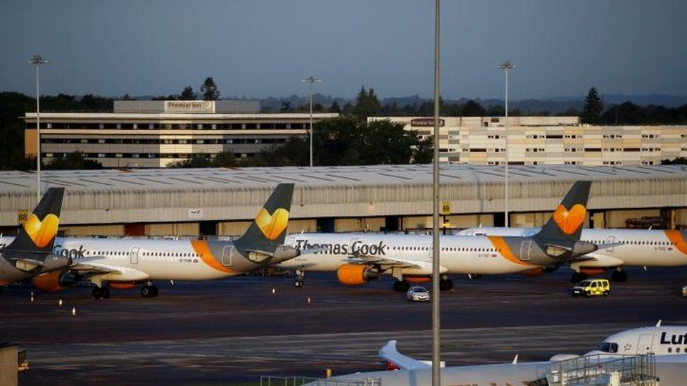 Grounded Thomas Cook planes