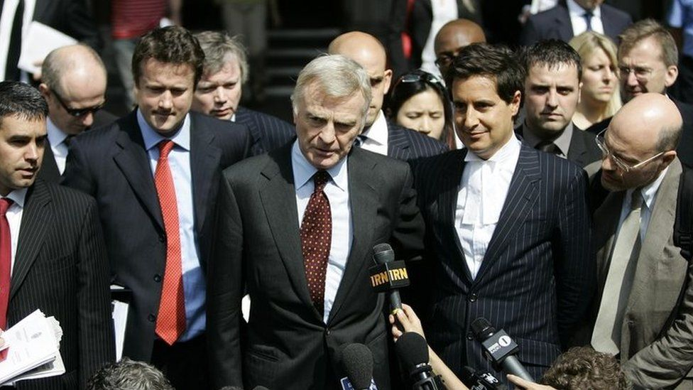 Max Mosley outside court in 2008