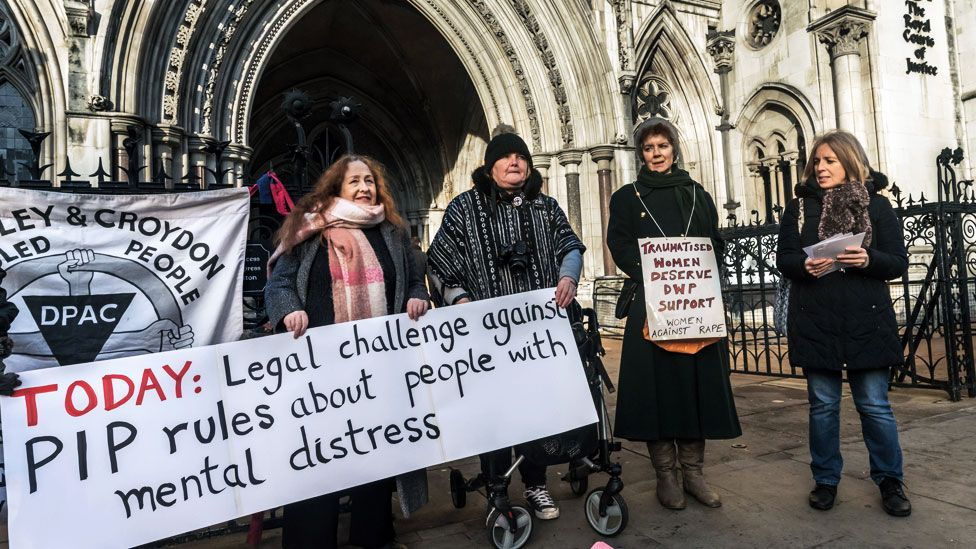 PIP protest at the Royal Courts of Justice