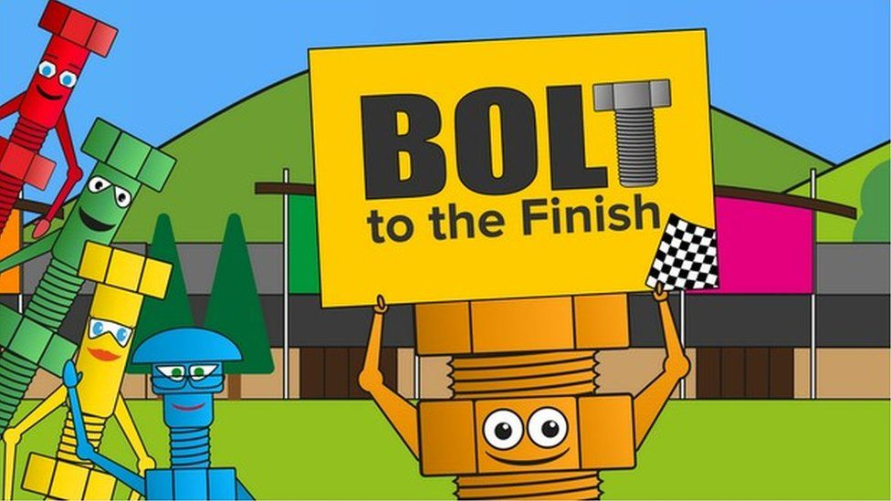 Screengrab of Bolt to the Finish game
