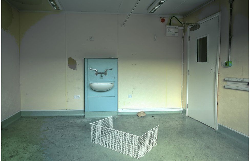 One of the consulting rooms in the medical block