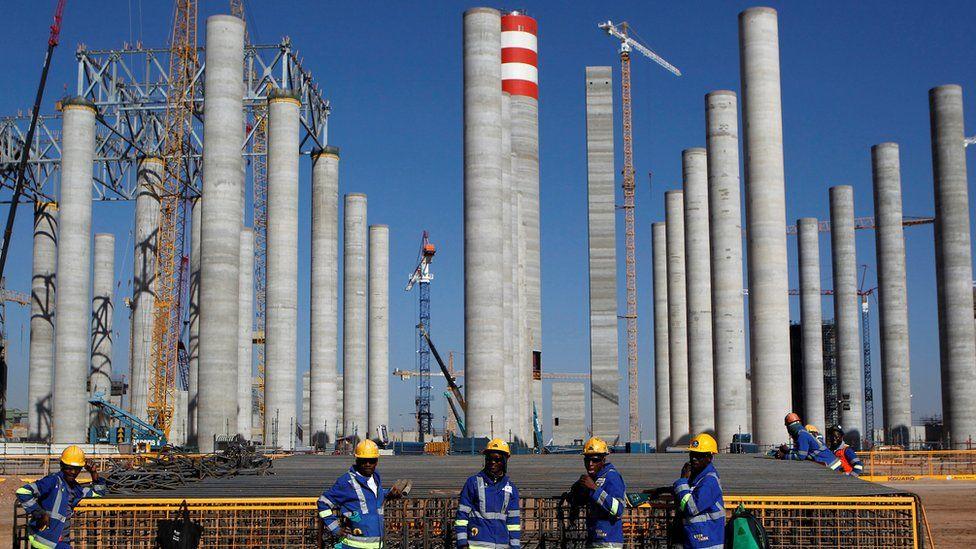 Workers at Medupi power station, 2012