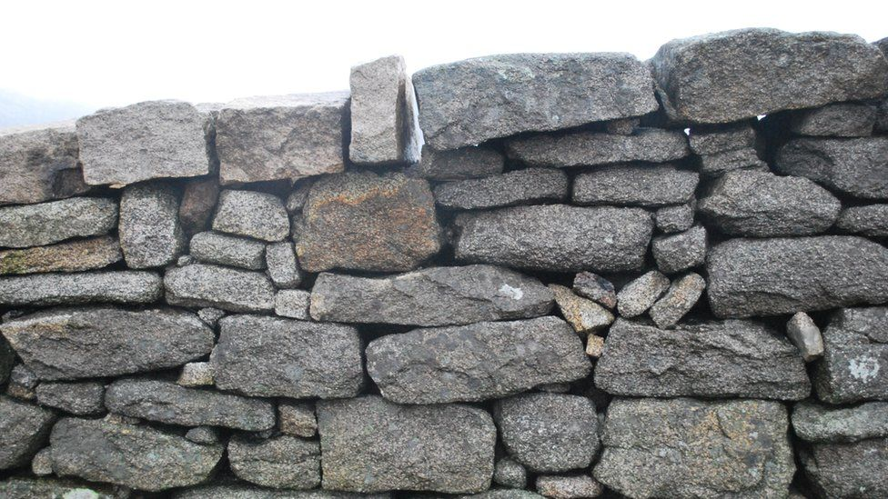 The Mourne Wall in the Mourne mountains