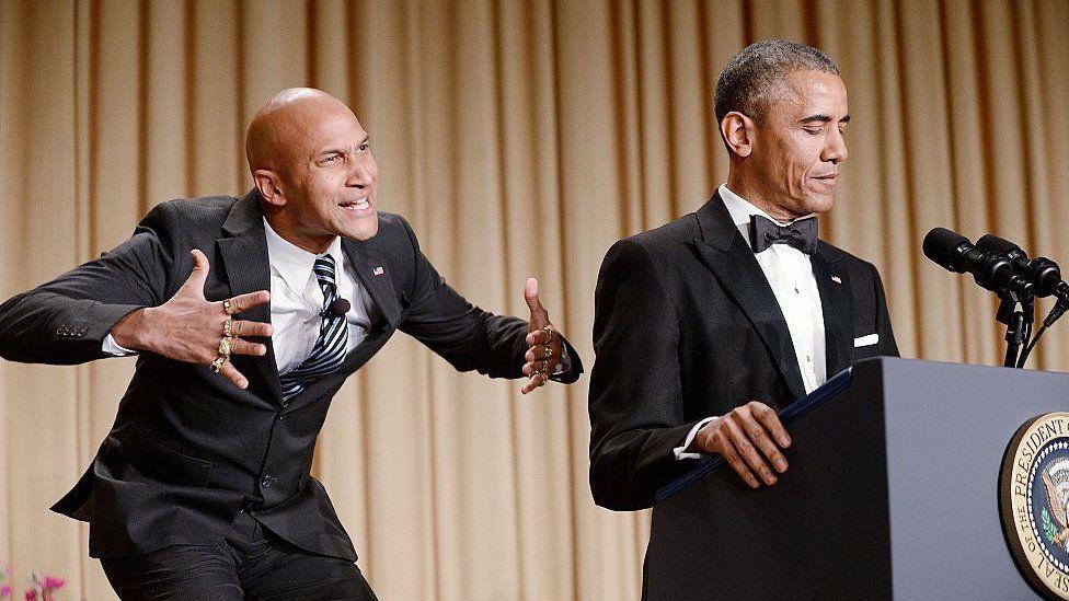 Luther, anger translator, with Obama