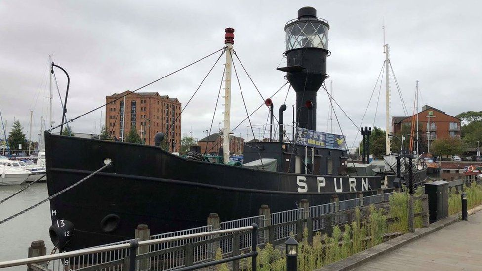 Spurn lightship in Hull (original berth)